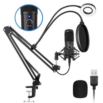 USB Podcast Condenser Microphone Kit