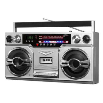 Victrola Cassette and Bluetooth Boombox