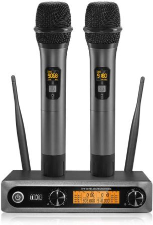 Wireless Microphone UHF, TONOR Dual Professional Dynamic Mic
