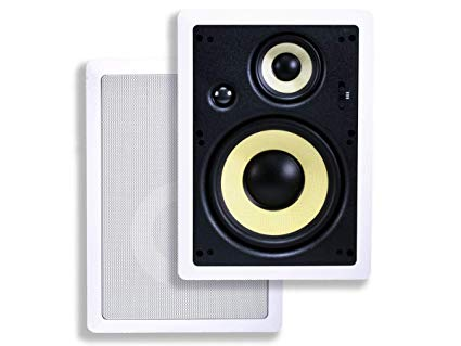 Monoprice 3-Way Fiber In-Wall Speakers – 8 Inch