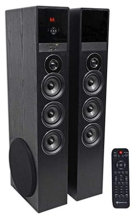 Rockville TM150B Black Home Theater System 10-inch