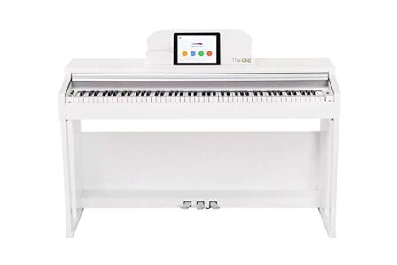 The ONE Smart Upright Piano White Finish