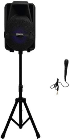 Fisher FBX816SM Portable Karaoke Speaker System with Microphone
