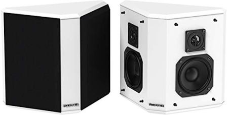 Fluance SXBP2WH Bipolar Surround Sound Speakers