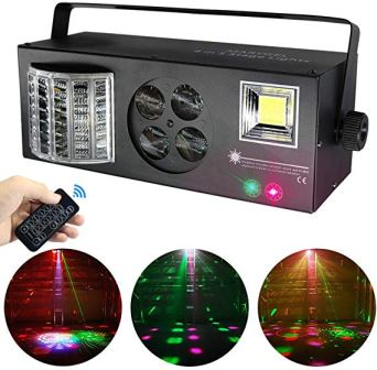 MARYGEL LED Pattern Strobe Light By Remote and DMX Control for DJ