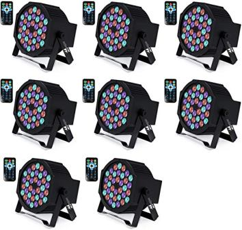 Missyee 36 X 1W RGB LED DJ Lights Package with Remote