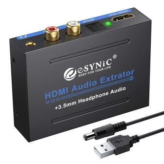 eSynic 1080P HDMI Audio Extractor