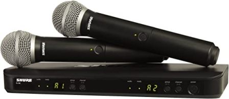 BLX288 & PG58 Dual Channel Wireless Microphone System by Shure