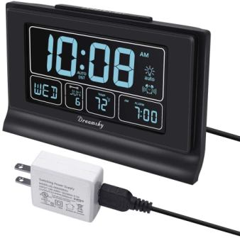 DreamSky Auto Set Digital Alarm Clock