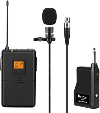 FIFINE Technology K037 Wireless Lavalier Microphone System