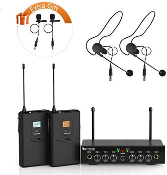 Fifine Technology K038 Wireless Lavalier Microphone System