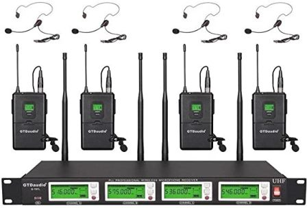 G-787 Wireless Lavalier Microphones by GTD Audio