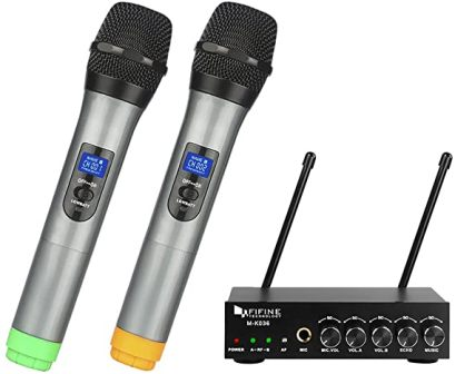 K036 UHF Dual Channel Wireless Microphone by Fifine