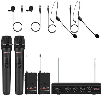 Pro VHF Mic Set Wireless Microphone System by Phenyx