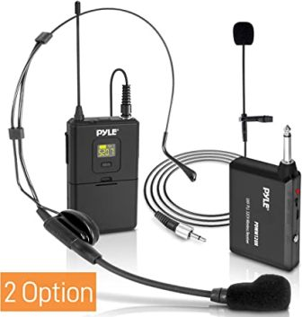 Pyle PDWM12UH Wireless Lavalier Microphone System