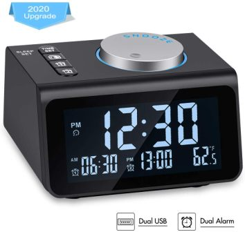 Te-Rich Small Digital Alarm Clock Radio