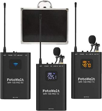 WM100 Wirelesss Lavalier Microphone System by Fotowelt