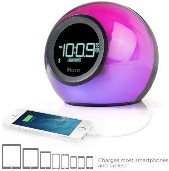 iHome IBT29 Bluetooth Color-Changing Dual Alarm Clock Radio