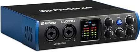 Presonus' Studio 24c 2×2, 192 kHz, USB-C Audio Interface