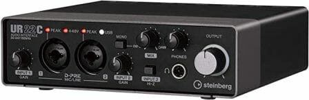 Steinberg's UR22C 2×2 Audio Interface with Cubasis LE and Cubase AI