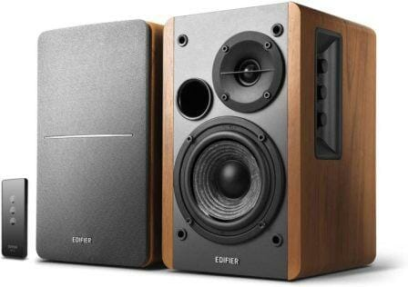 1byone Powered Wireless Classic Bookshelf Speaker