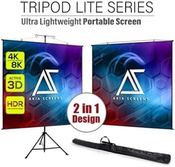 Akia Screens 96-Inch Projector Screen with Stand