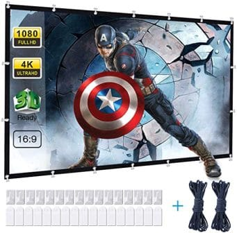 Powerextra 100-Inch Projector Screen with Stand