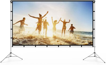 Vamvo 100-Inch Projector Screen with Stand