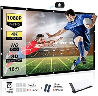 Chalpr 120 Inch Portable Projector Screen