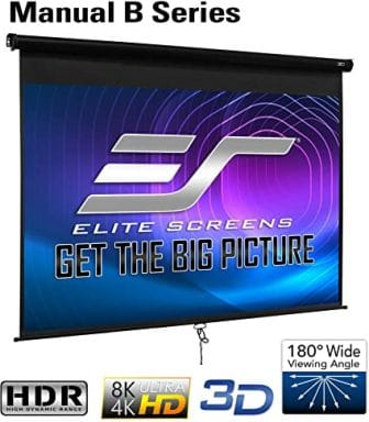 Elite Screens Manual B Pull Down Projector Screen 120 Inch