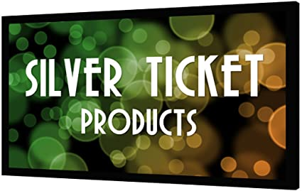 Silver Ticket Products STR-169120 Fixed Frame Projector Screen