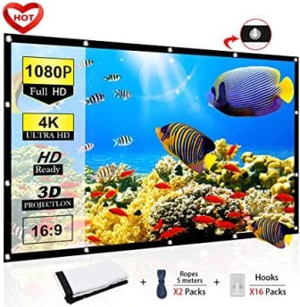 Ylife 120 Inch Portable Projector Screen