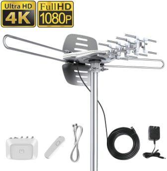 Vansky Outdoor Motorized 150-Mile TV Antenna